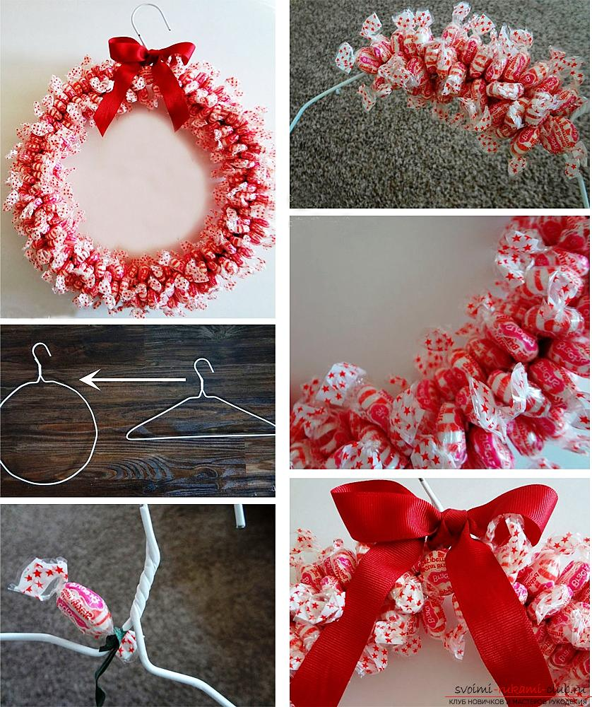 How to make a Christmas wreath by yourself .. Photo # 6
