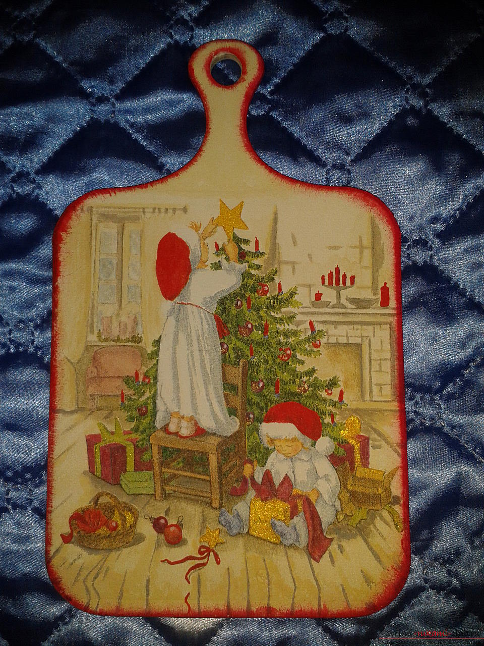 Photo to the lesson on the creation of a New Year's gift - cutting-edge dossacks in the technique of decoupage. Photo №4