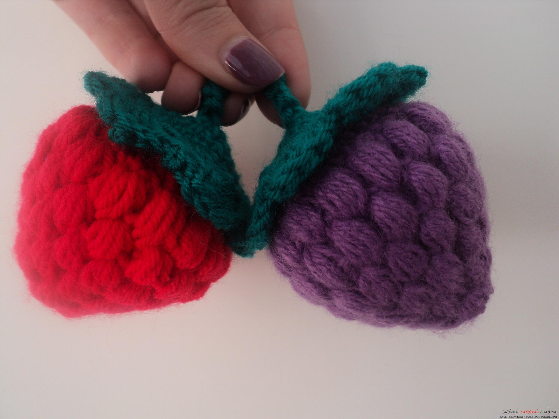 This detailed master class contains a crochet lesson and will teach you how to bind berries by yourself. Photo # 1