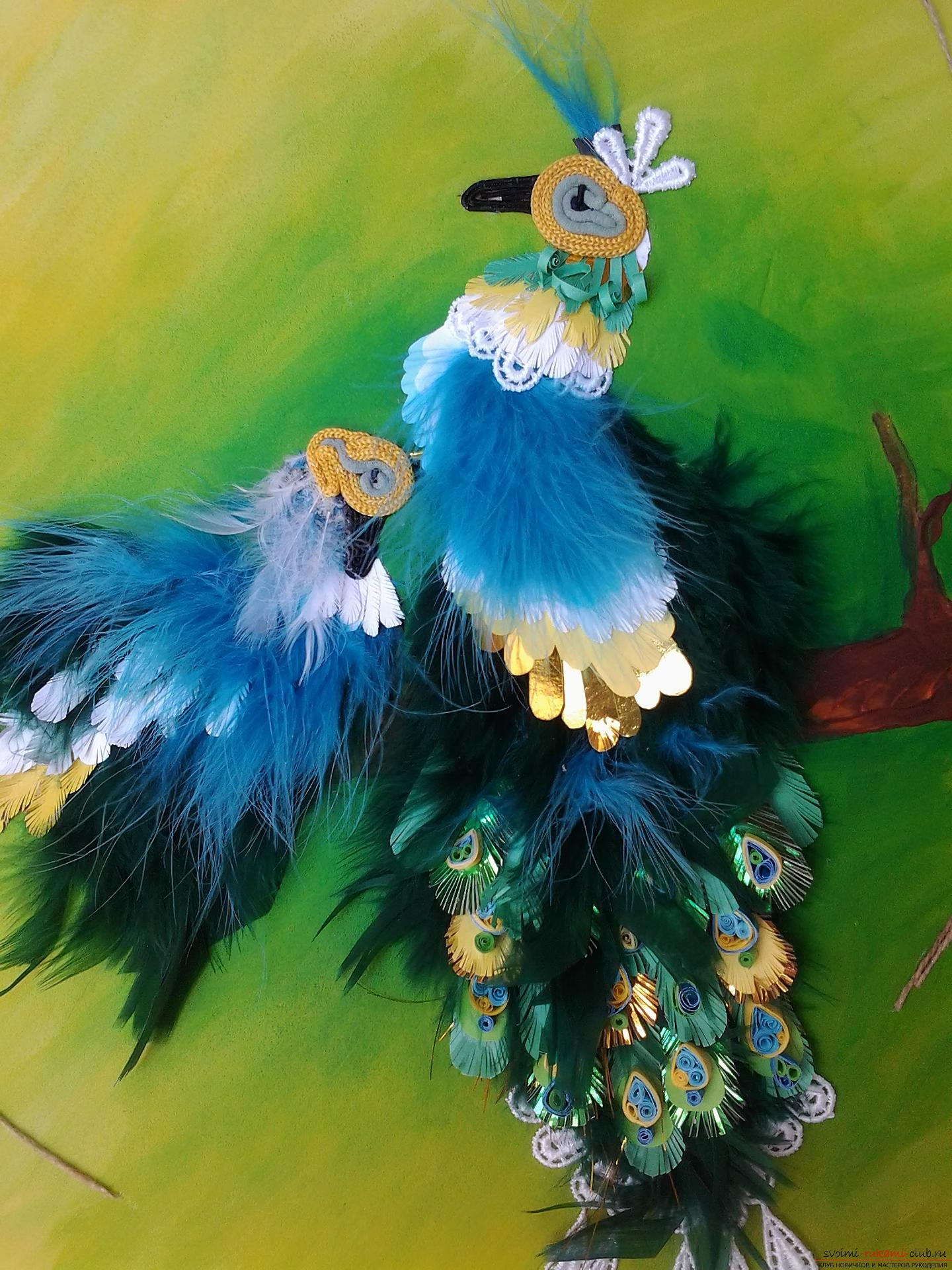Original painting: birds on a branch. Photo №5