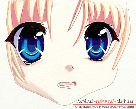 Drawing eyes in anime style. Photo №5
