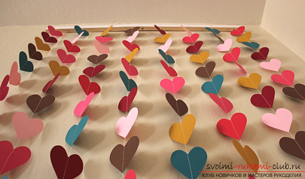 We make valentines with our own hands. Photo №1