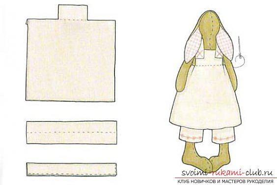 The doll Tilda own hands, the popular hare Tilda, the New Year's hare Tilda, how to choose the right fabric for sewing a hare Tilda, patterns of a hare, clothing patterns for a hare Tilda. Photo # 9