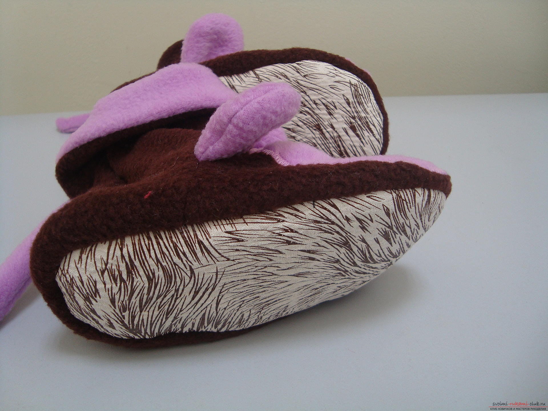 This master class will teach how to sew hand-made house slippers with the symbol of the year - the monkey .. Photo # 9