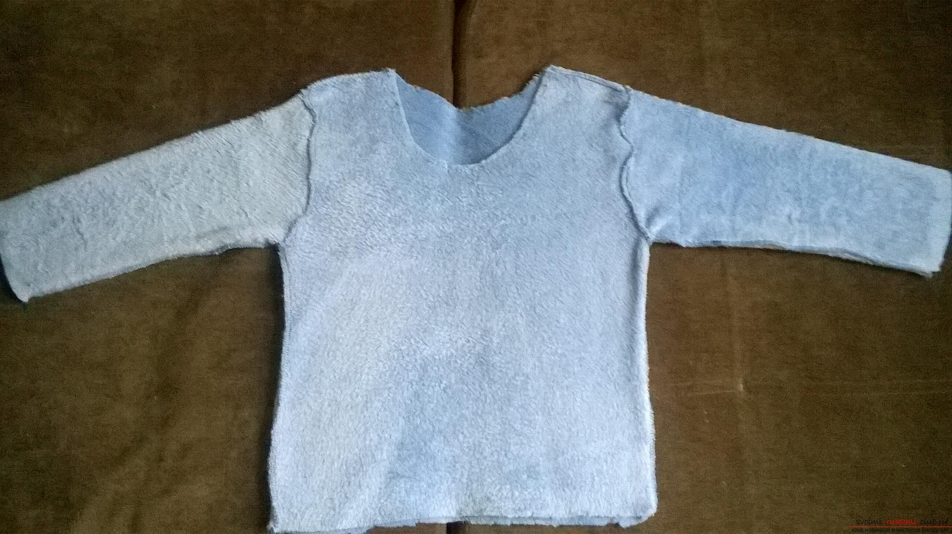 A detailed master class will teach how to sew a children's sweater for a boy with an applique. Picture №3