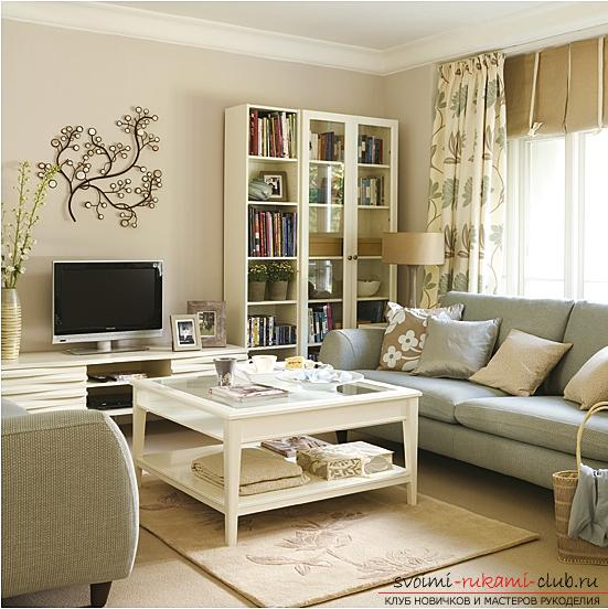 Fresh ideas of interior design, how to make a dark room more light and bright with their own hands .. Photo # 3