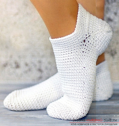 Warm beautiful socks for beginners. Picture №3