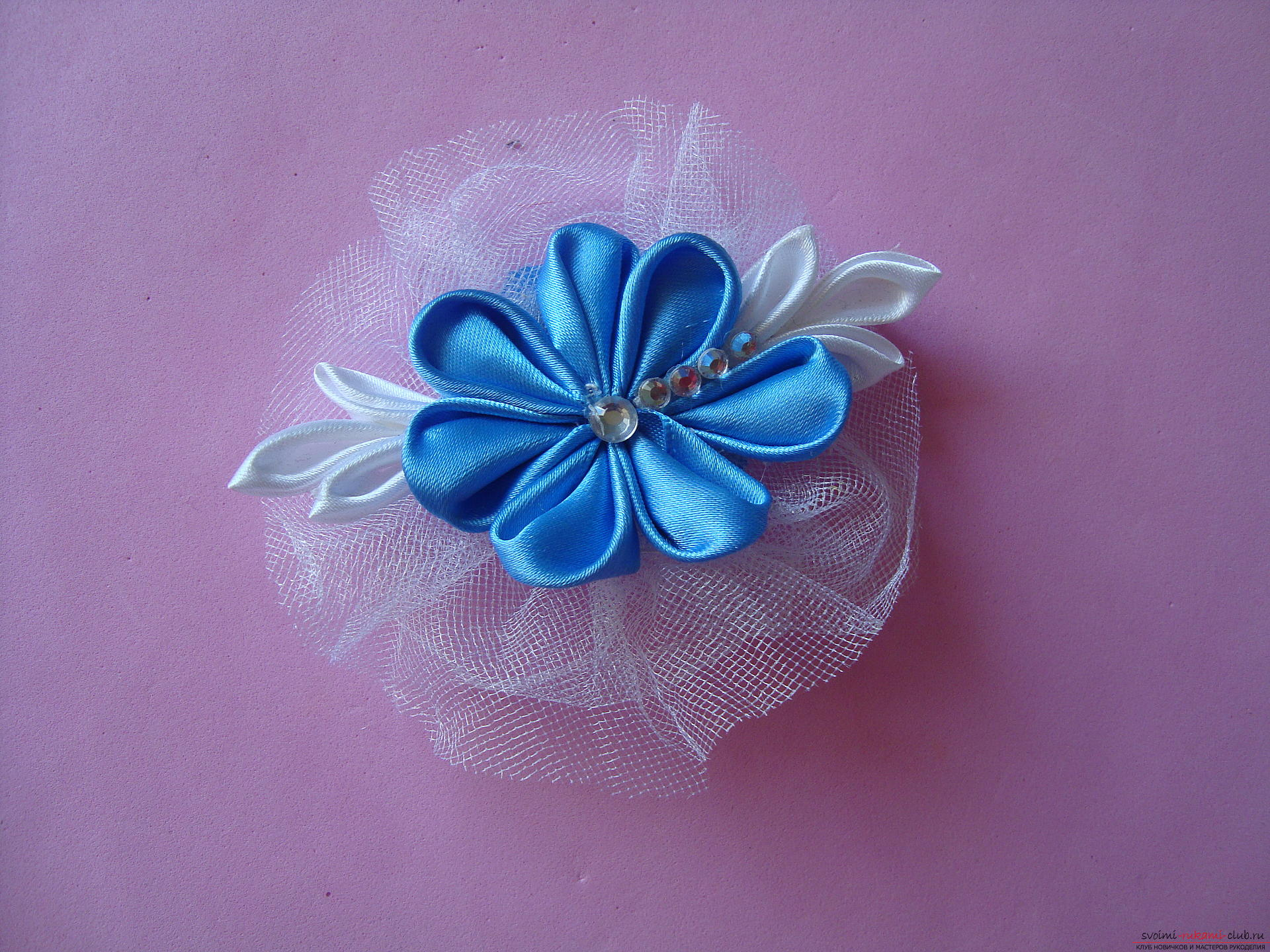 Master class for faking a delicate barrette with their own hands ,. Photo №1