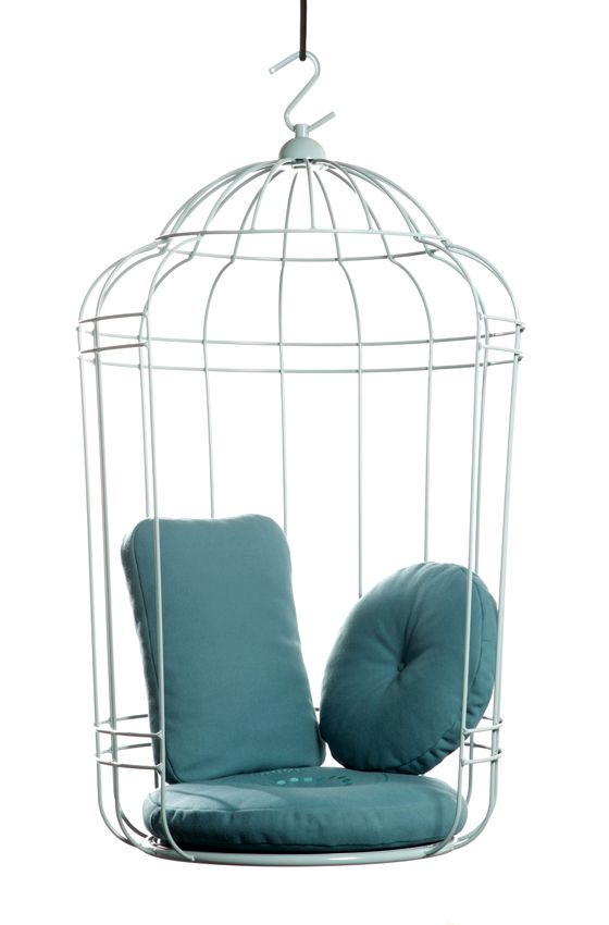 Cage armchair in the form of a bird cage