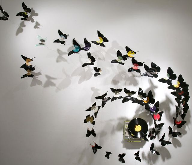 crafts from beer cans - butterflies