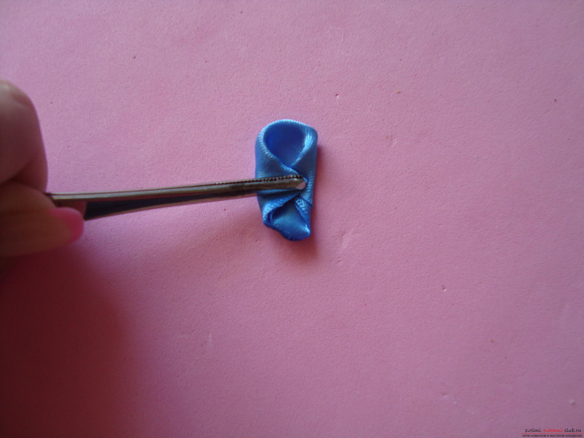 Master class for faking a delicate barrette with their own hands ,. Photo №7