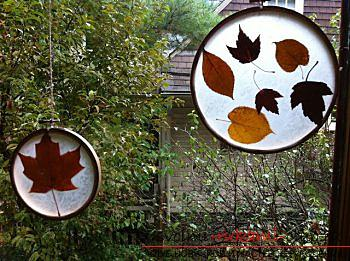 Crafts, autumn crafts that can be made from leaves, an autumn glass ball, pictures on the theme of autumn, detailed instructions and phased photos .. Photo # 21