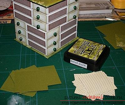 Christmas box for storing things - a hand-crafted scrapbooking technique. Photo №4