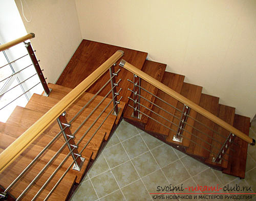 Installation of various types of stairs in a private house with their own hands. Photo №4