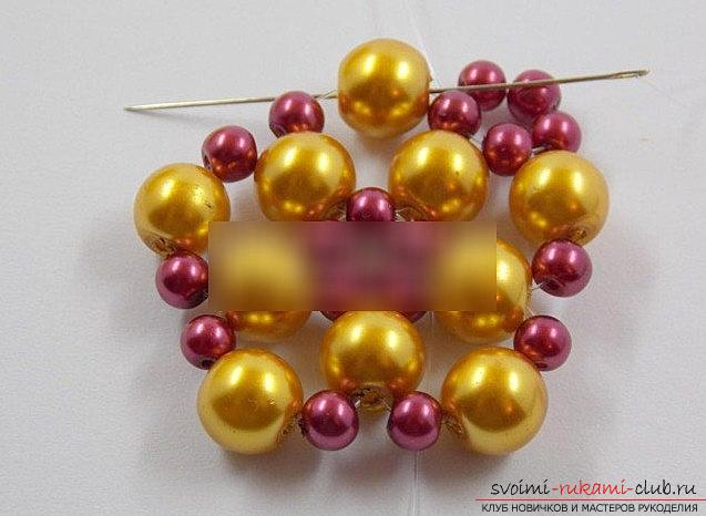How to make a beautiful bead for Christmas trees? New Year's master class beads. Photo №5