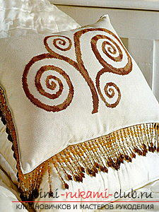 Embroidery of pillows by various methods according to schemes. Photo №8