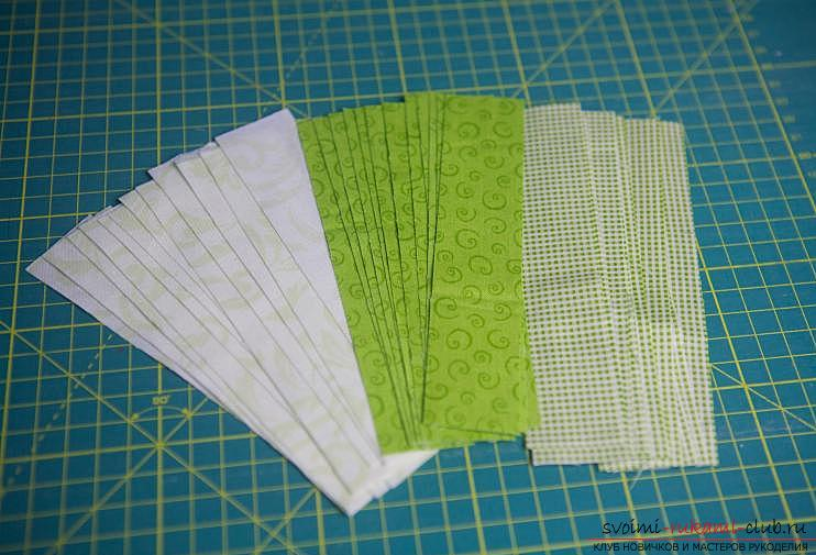 Making a Japanese bag of Omega in the style of Japanese patchwork. Picture №3