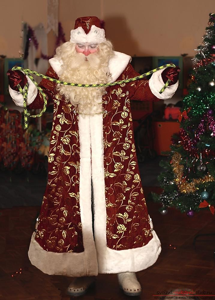 Santa Claus costume for the New Year with his own hands. Photo №1