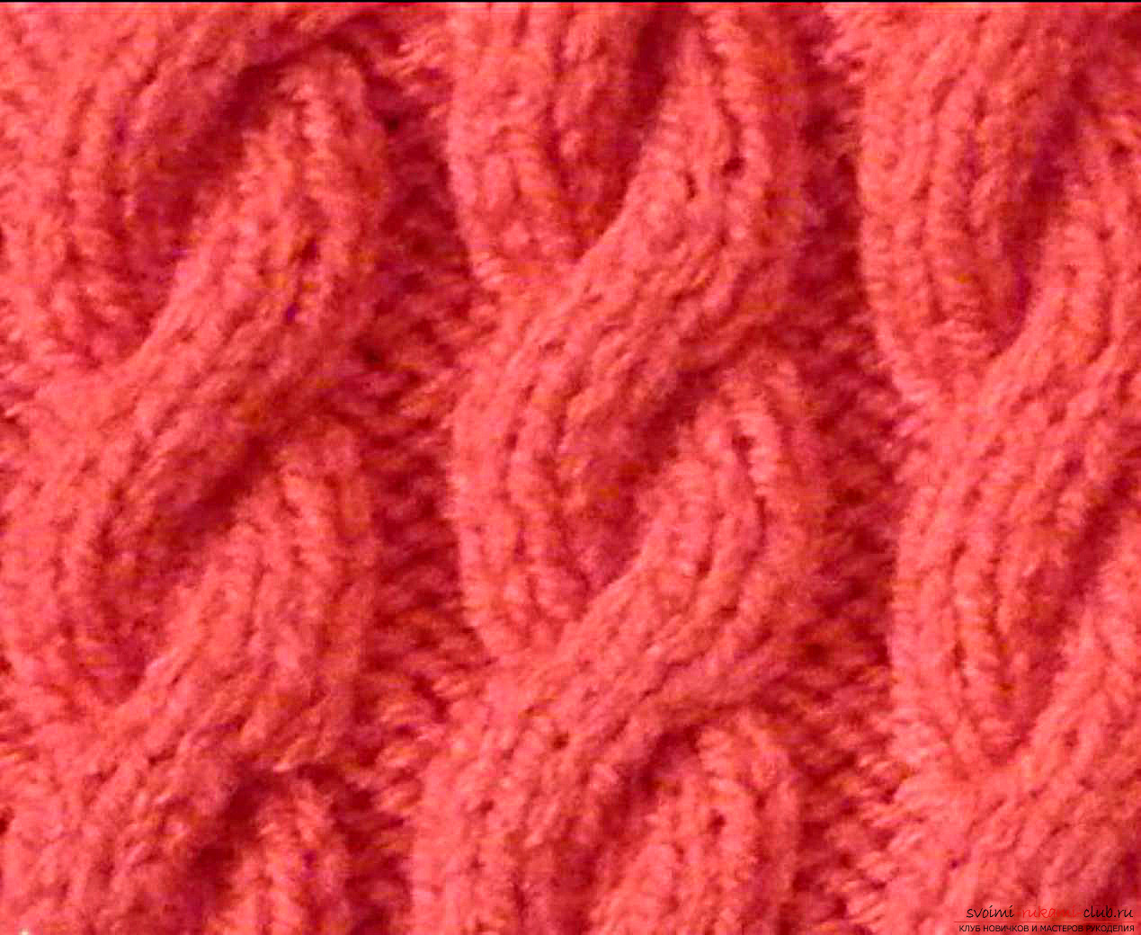 knitted patterns of braid. Photo # 2