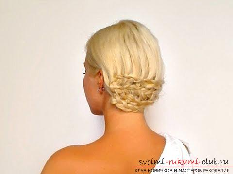 Beautiful hairstyles for thin hair with their own hands - a master class. Photo Number 9