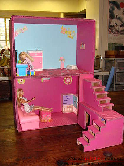 A bright and cozy little house for Barbie's own hands. Photo №7