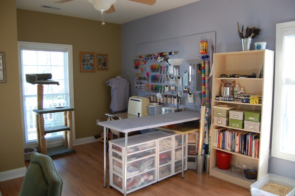 comfortable sewing space Courtney Burge