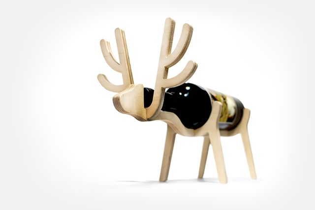 Bottle holders in the form of a deer