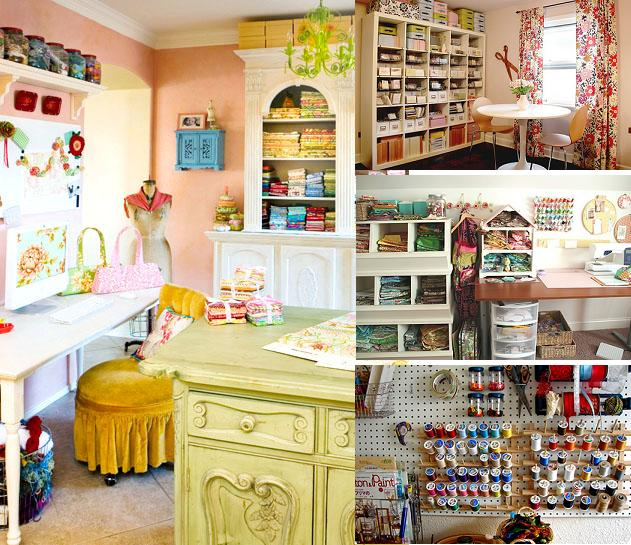 Ideas for an interior of a sewing place