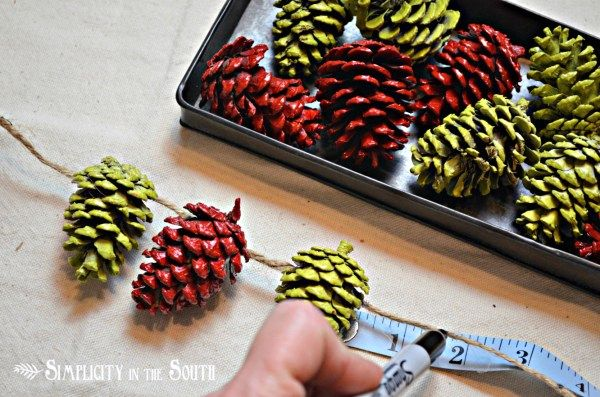 colored garlands of cones with their own hands 04