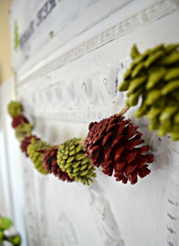 colored garland of cones with your own hands 05