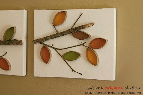 We make autumn articles from paper .. Photo # 22