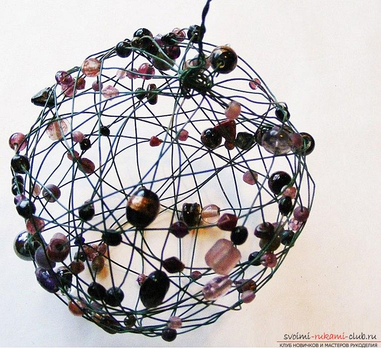 Decoration from beads for the Christmas holiday - a toy for the Christmas tree and a master class. Photo №6