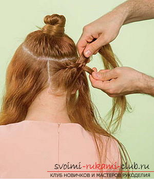 We learn to make a hairdo for the wedding with our own hands. Photo №7