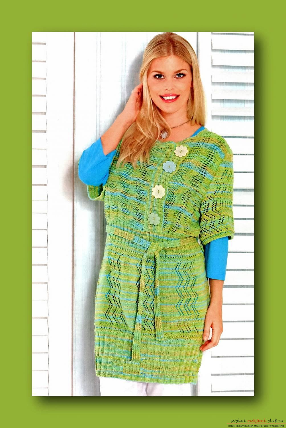 knitted knitting with an original female tunic. Photo №1