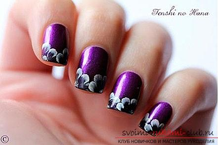 How to make acrylic painting of nails: Step-by-step instruction, algorithm and materials. Photo # 2