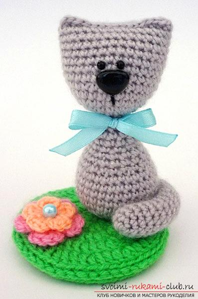 How to tie a cat to an amigurumi with your own hands with diagrams and photos. Picture №3
