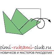 Creation of hand-made articles from paper in the origami technique for children of 5 years old. Photo # 18