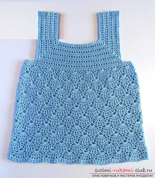 How to crochet a summer T-shirt for children of different ages with diagrams and descriptions .. Photo # 8