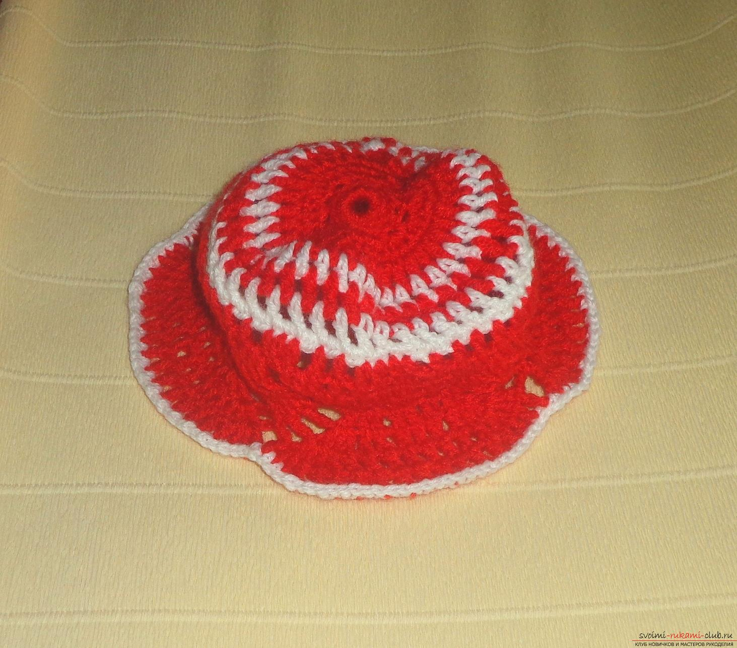 Master class on knitting a baby cap with a crochet with step-by-step instructions and photos. Photo №7