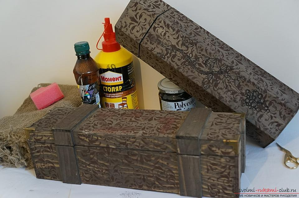 How to do decoupage boxes. Photo №6
