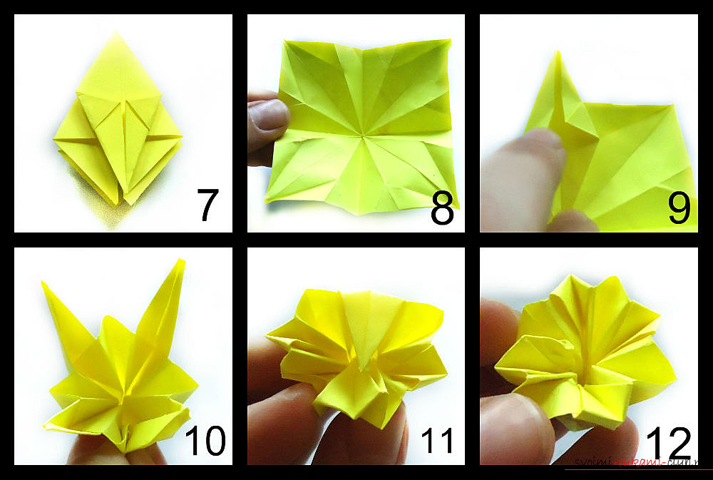 оригами нарцис. Снимка # 2