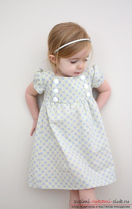 maak een eenvoudig patroon van jurken voor het meisje met hun eigen handen. Foto №6