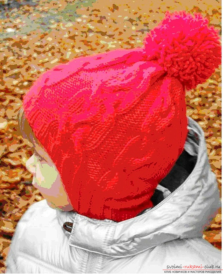 Winter woolen hat for the baby. Photo №1