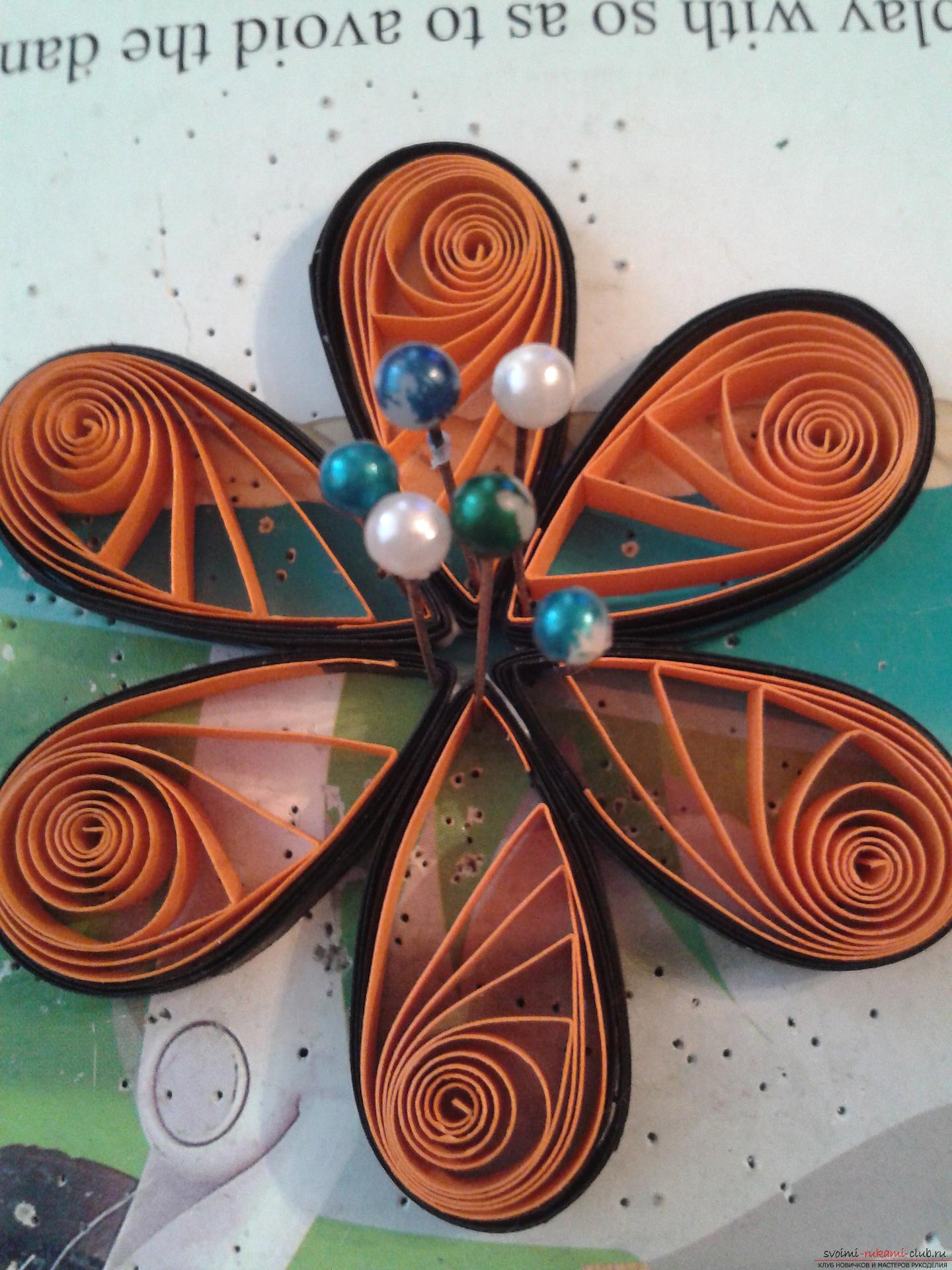 This detailed master-class of quilling colors will tell you how to make your own hands a bouquet in the basket .. Photo №13