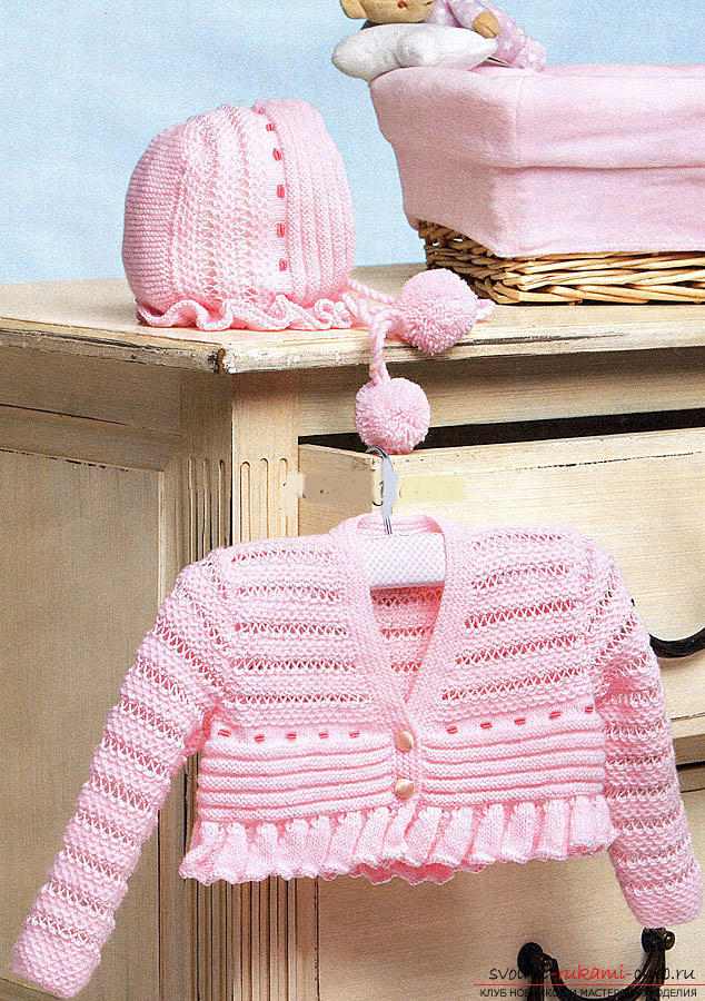 Universal set of clothes for a newborn girl. Photo №4