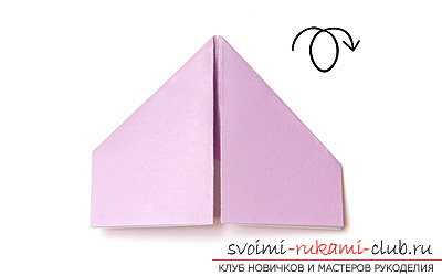 How to make an origami swan with paper. with my hands and for free .. Picture №5