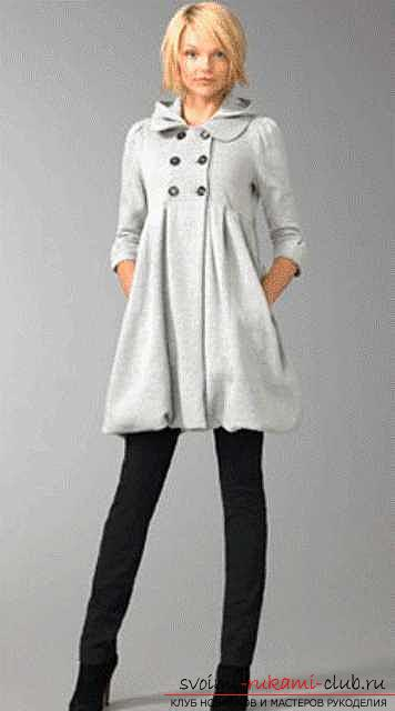 Patterns of women's, men's and children's models of a coat with a hood. Photo # 2