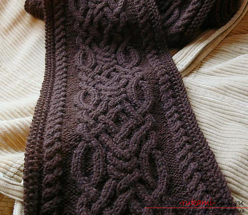 We knit the bag with the Aran pattern according to the scheme. Photo №1