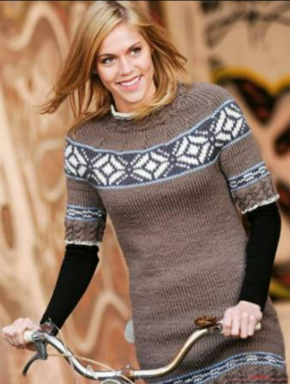 knitted sweaters with a Norwegian pattern. Photo # 2