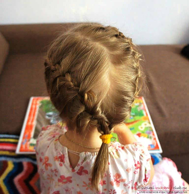 Not complicated hairstyles for little girls. Picture №3